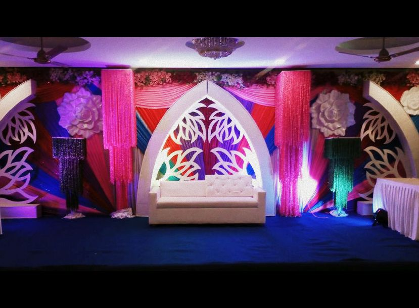 Stage decoration in White Lily