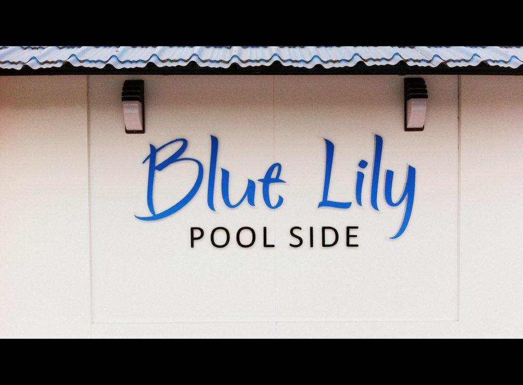 Blue Lily Pool side logo