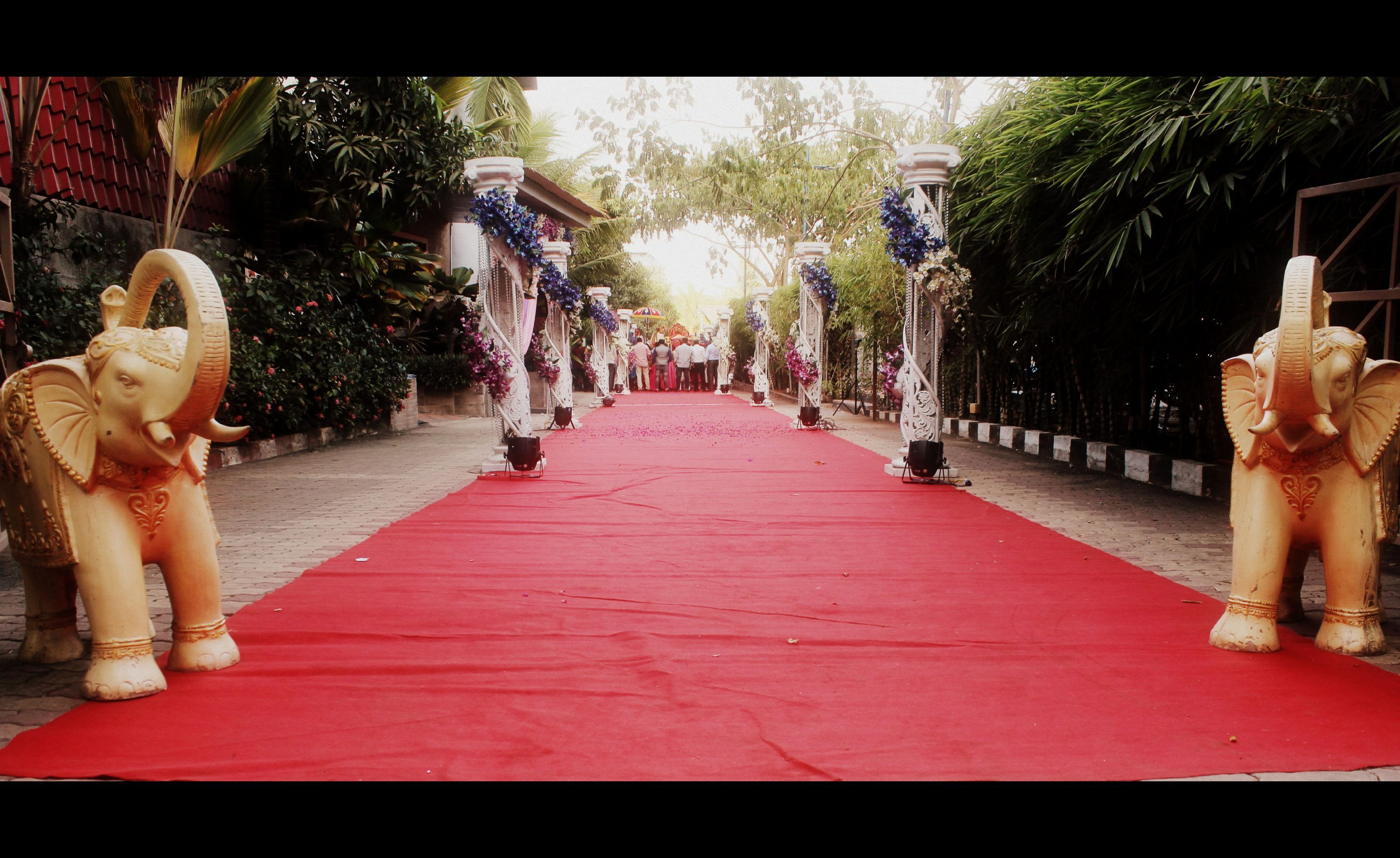 Red carpet entrance of Exotica lawn