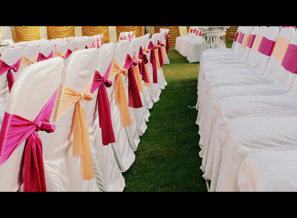 Pink & orange Theme for one of the wedding