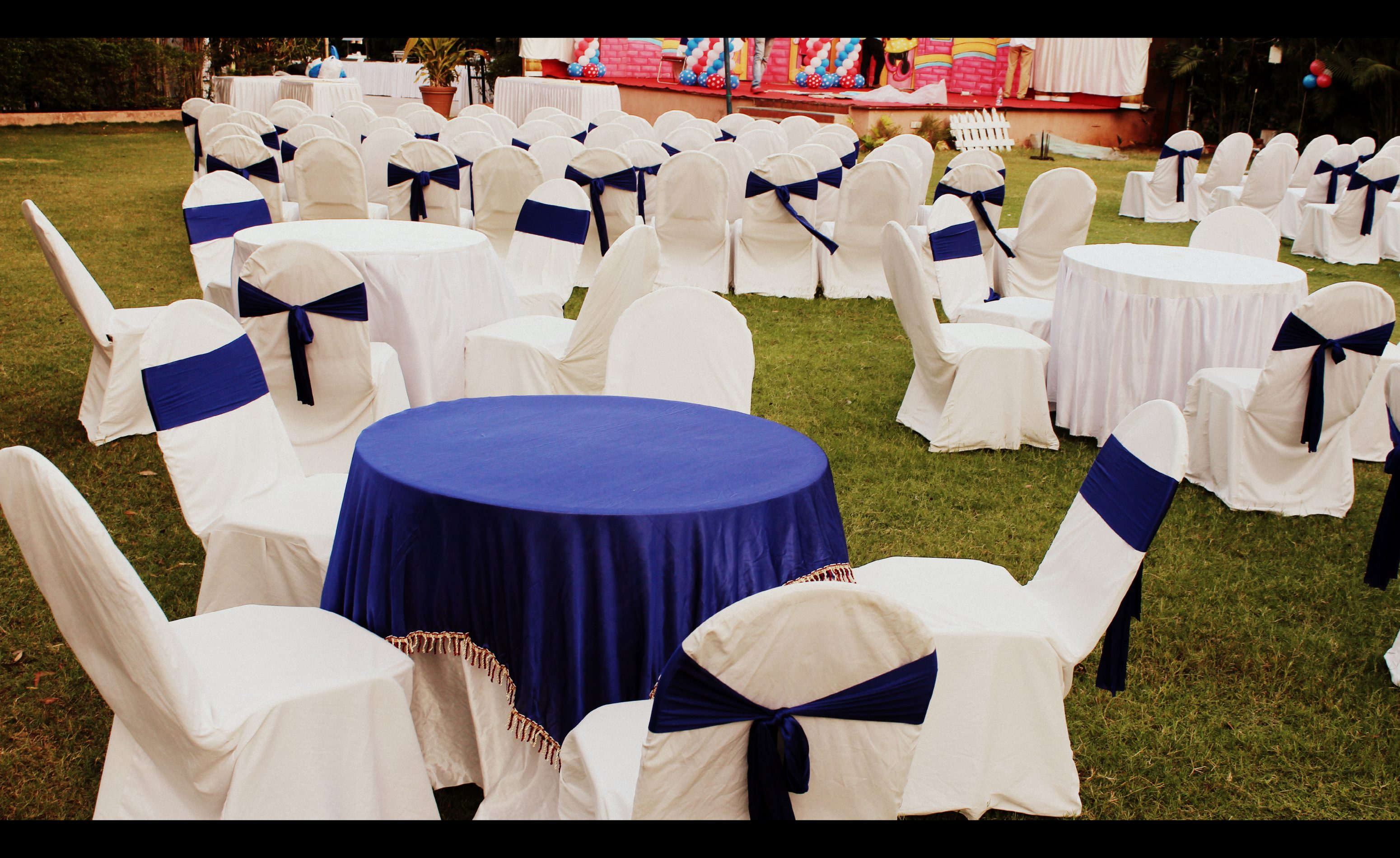 Round table setup in Tulip Lawn