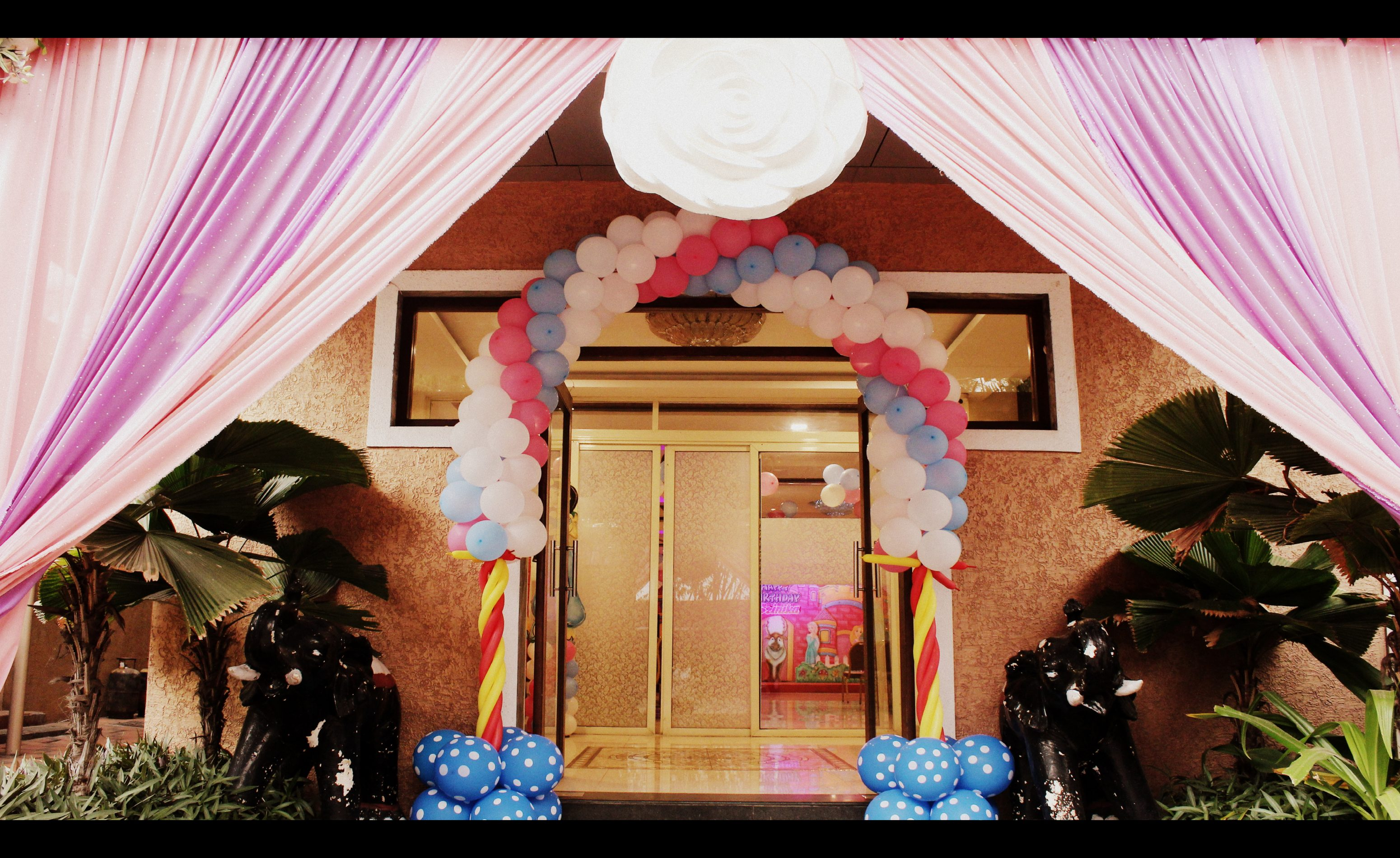 Balloon decoration at the entrance of White Lily