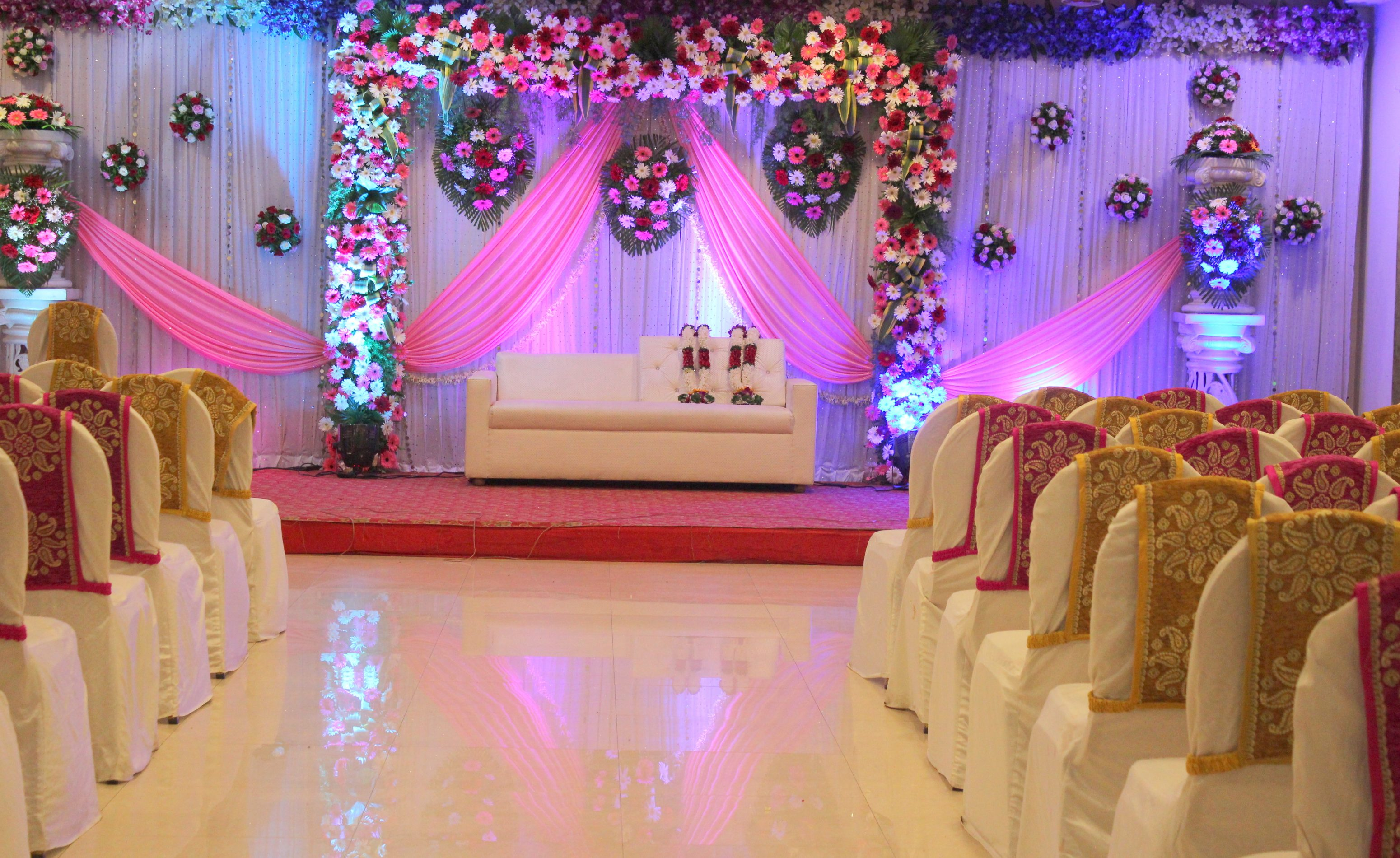 Real Flower decoration at White Lily Banquets