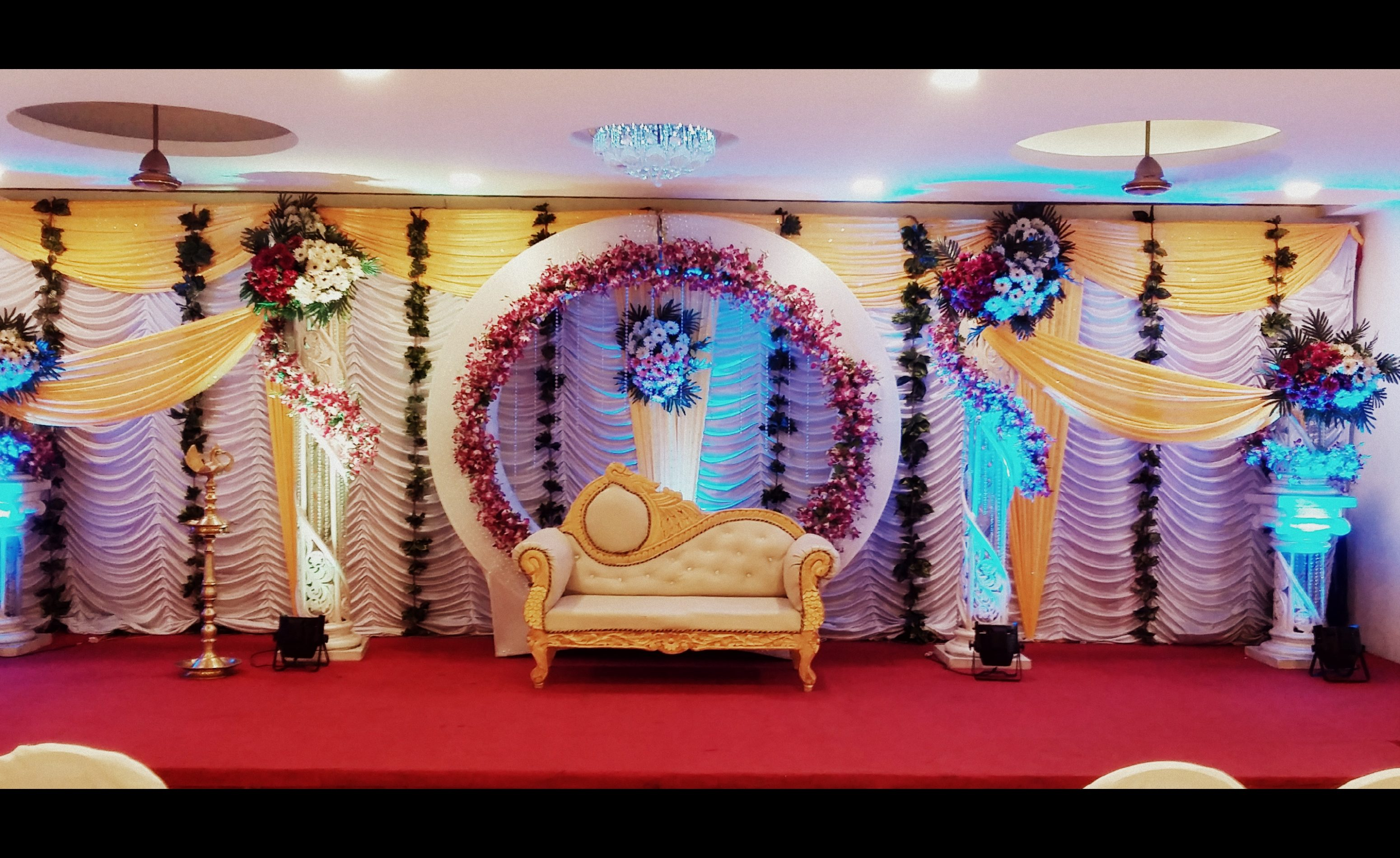 Stage decoration at White Lily Banquet