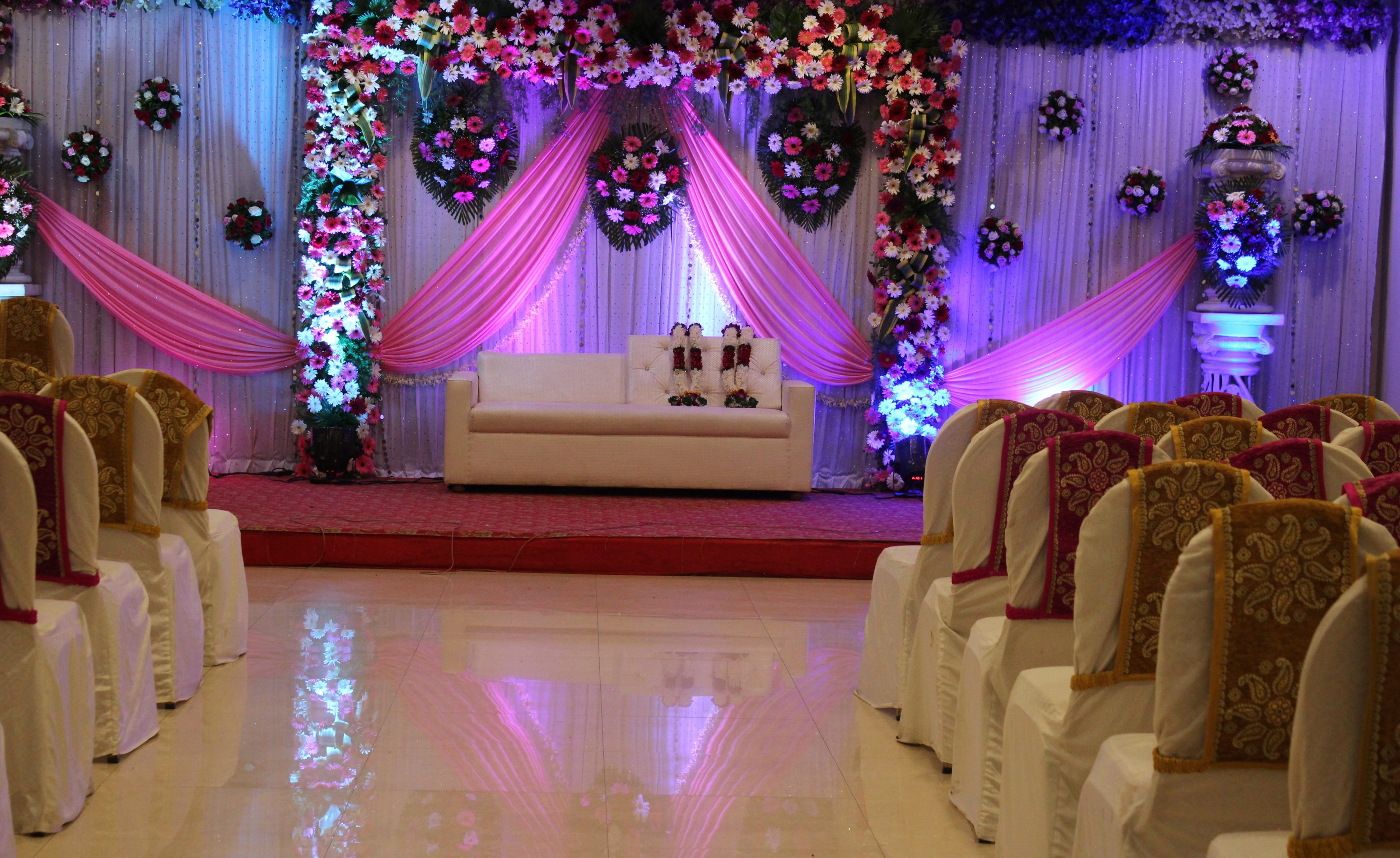 Wedding decor at White Lily Banquet hall