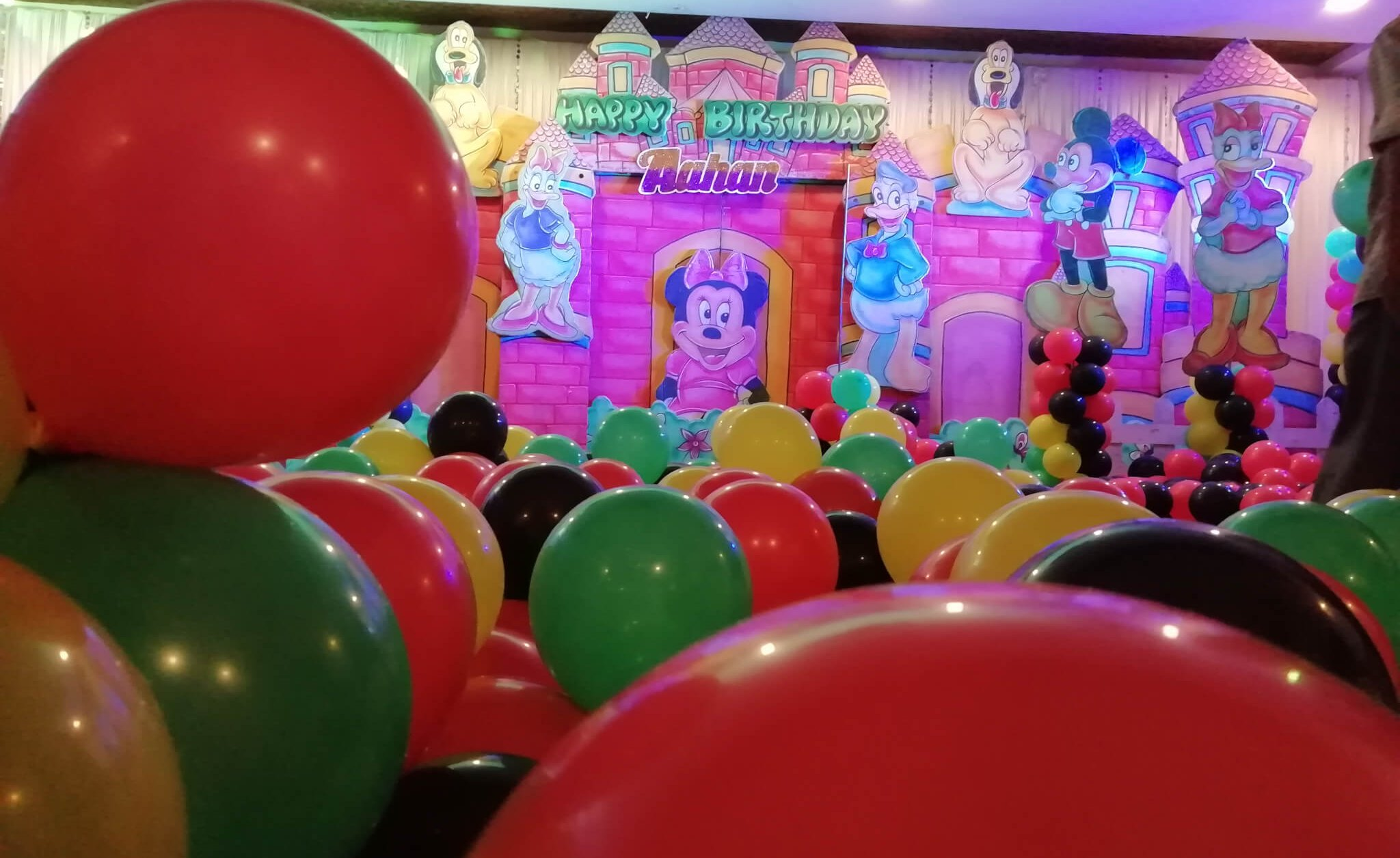 Balloons at a Birthday Party