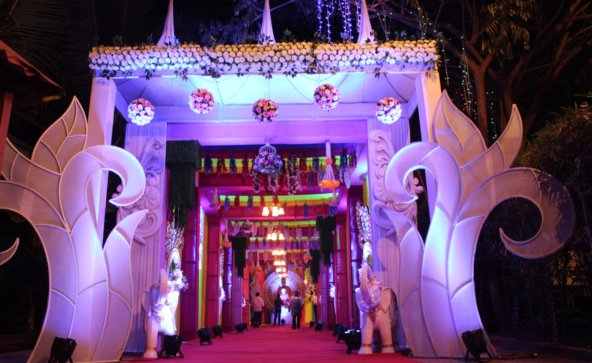 Entry walkway of Exotica Lawn