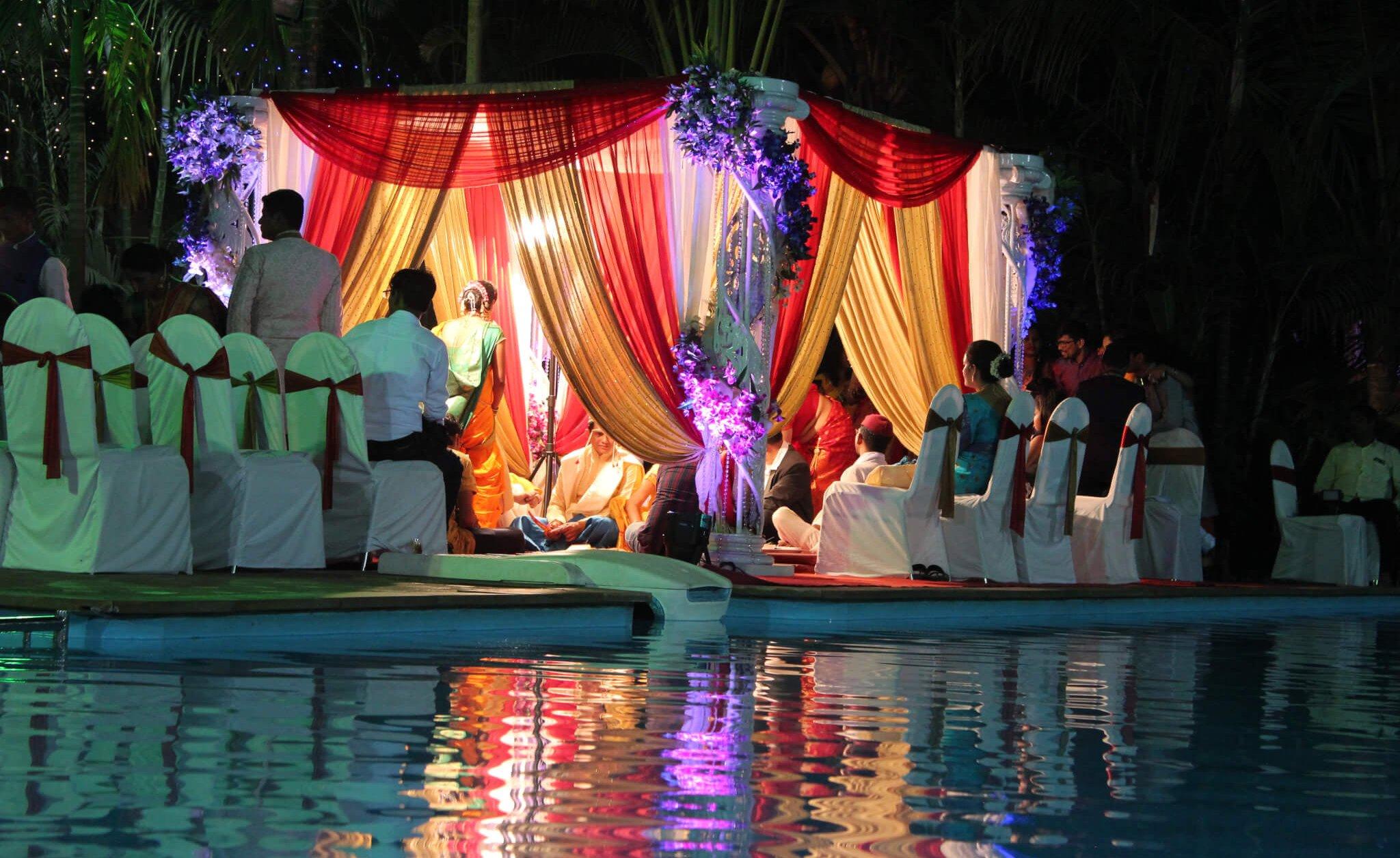 Vidhi mandap at Swimming pool