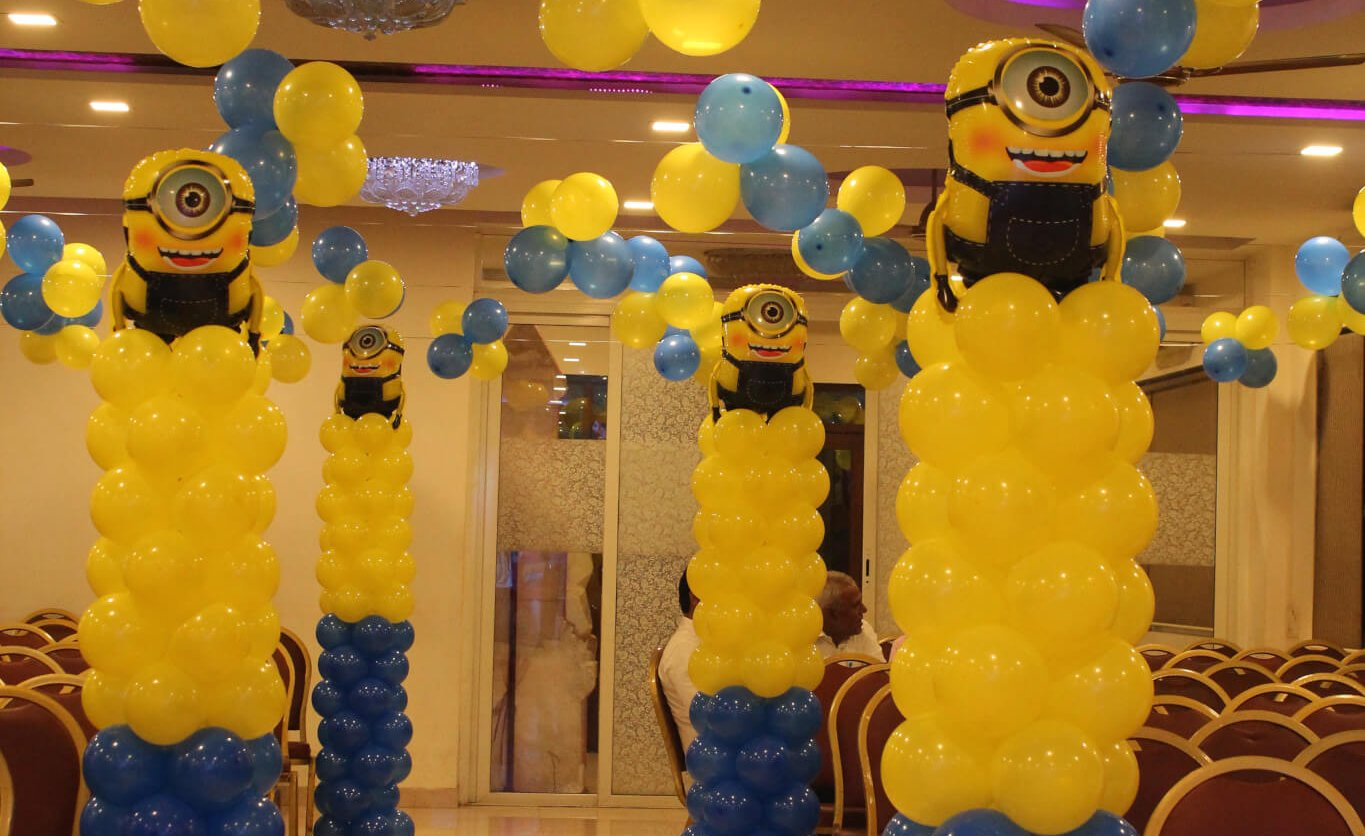 Minion theme birthday decoration