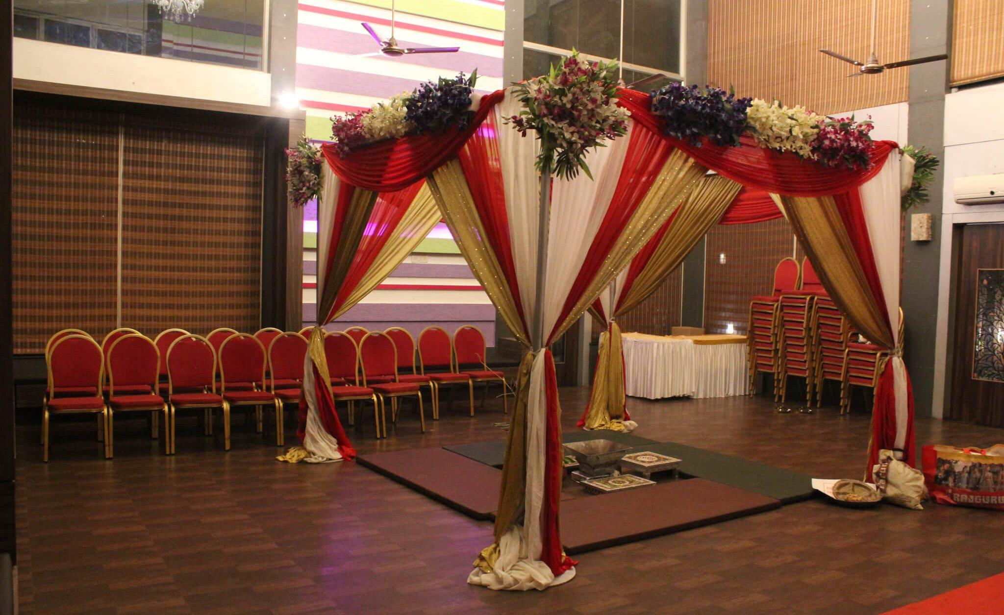 Vidhi mandap setup at Green Square Conference hall