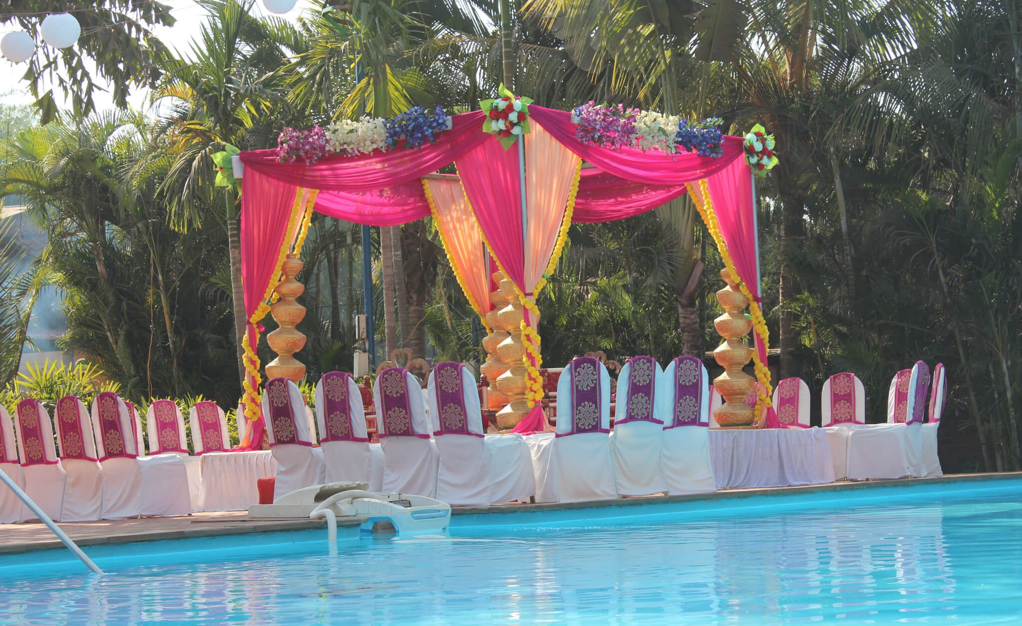 Vidhi mandap by the pool